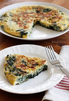 Light Swiss Chard Frittata #breakfast #frittata #light #lowfat #swisschard - Skinny Taste