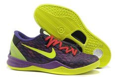 best service e8b9a e08d6 Nike Kobe 8 Year Of The Snake Violet Pop Volt Inc Action Red 555035 109 Kobe