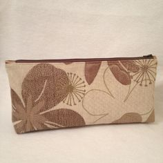 Floral Cosmetic Tote. by StitchingNeedle on Etsy