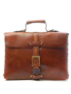 Sandast - Theo Notebook Leather Messenger Bag (Khaki) | $750