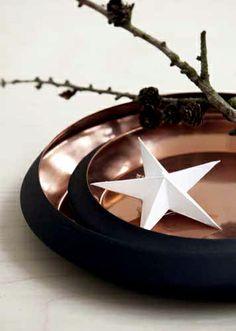Prachtige, stijlvolle #schalen, donker van kleur én met binnenkant van #koper.