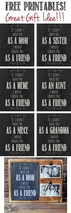 """LOVE this gift idea with Free Printables! You can print daughter, aunt, niece and lots more too! Perfect for <a class=""""pintag"""" href=""""/explore/Christmas/"""" title=""""#Christmas explore Pinterest"""">#Christmas</a>!"""