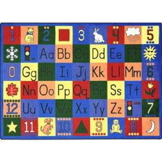"Around The Block Classroom Rug - Rectangle - 5'4""W x 7'8""L by Joy Carpets. $179.75"