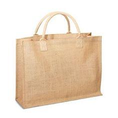 Jute Shopping Tote w/ Cotton Web Handle