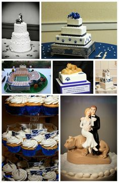Wediquette and Parties: We Are...Getting Married- Penn State Wedding Ideas, Cake & Cupcake Ideas