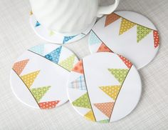 bunting coasters