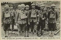 1918 - American Soldiers with Gas Masks, Essey