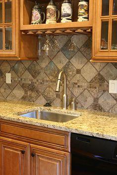 Tile Backsplash | Four Seasons Homes, Inventory Home, Lake Ozark Builders,  Lake Ozark