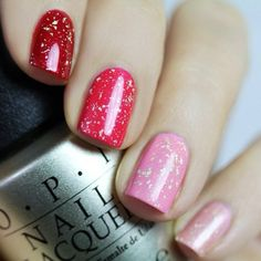 OPI Ombre Valentine's Day Manicure by Blog en Beaute! Valentine's Day Nail Art Ideas: Part I: http://www.beautytipsntricks.com/blog/valentines-day-nail-art-ideas-part-i/  #valentinenails