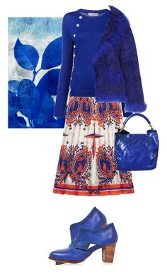 """""""Blue!"""" by flippintickledinc ❤ liked on Polyvore featuring Gucci, Altuzarra, Saks Potts and Yves Saint Laurent"""