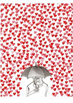 I ❤ COLOR BLANCO + ROJO ♡ Love this illustration.