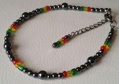 Hematite Beads Anklet Beaded Ankle Chain Bracelet Rasta African Jewellery NEW