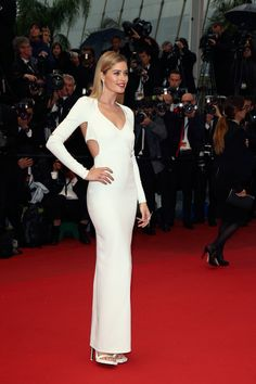 Doutzen Kroes look lovely in the white cut out dress at the 66th Annual Cannes Film Festival!