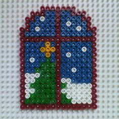 Window - Christmas hama beads by hadavedre