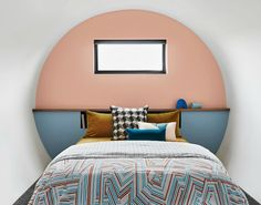 painted-headboard-dulux-australia-pantone-pink-and-blue-bedroom