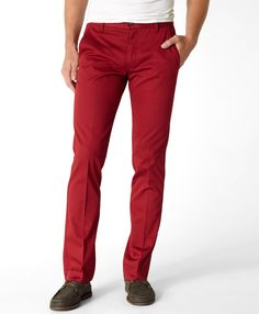 Levi's 511 deep red twill pants with tonal stitching