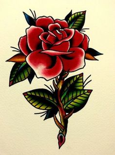 Flowers red rose drawing, rose drawing tattoo, tatoo r. American Traditional Rose, Traditional Rose Tattoos, Traditional Roses, Traditional Ideas, Tatoo Rose, Rose Drawing Tattoo, Tattoo Sketches, Feather Tattoos, Flower Tattoos
