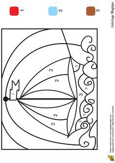 coloriage magique ce1 bateau voile à imprimer sur hugolescargot.com