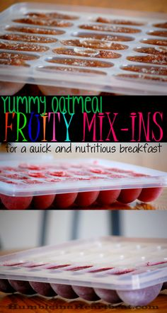 Fruity oatmeal mix-ins are so easy to use. Just add these fruit purees and sauces to your child's oatmeal to boost the nutrition and the flavor!