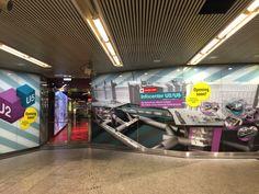 Our visualisation for Wiener Linien in Vienna´s subway Volkstheater.