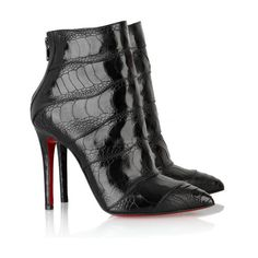 Christian Louboutin Zermadame 120 ankle boots found on Polyvore