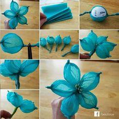 Flores de papel china