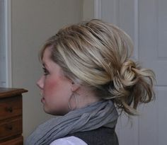 Quick hair: Messy bun