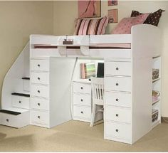 loft bed with desk underneath