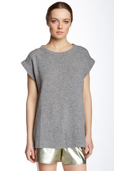 Short Sleeve Cashmere Sweater by DEREK LAM on @HauteLook $300, down from $450. js