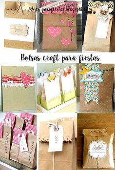 como decorar bolsas para packaging de regalo                                                                                                                                                                                 Más