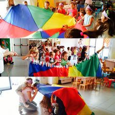 Party for kids, giochi con paracadute ludico, divertimento creativo! Www.babyeventimilano.com
