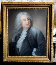 """"""" #Portrait of a man dressed in black."""" Very nice #pastel #LouisXVI #signed and dated Cherfis Pinxit 1746. For sale on Proantic by Laurence Helmer et Maison James."""