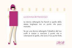 DONNA RETTANGO Il nostro articolo: http://www.stilefemminile.it/quali-sono-le-forme-femminili/