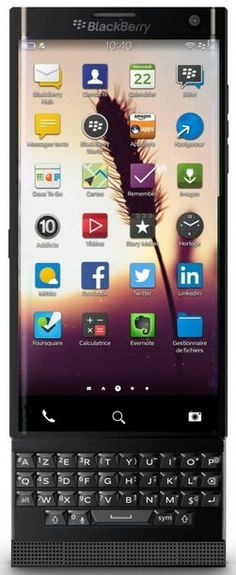 BlackBerry Leap Slide Curve