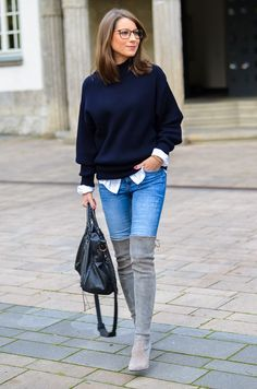 OUTFIT: OOOPS I DID IT - OVERKNEE BOOTS & JEANS