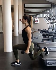 "10.6k Likes, 194 Comments - Alexia Clark (@alexia_clark) on Instagram: ""Simple does it treadmill workout! Perfect for a hotel gym! 1. 15 reps each side 2. 60 seconds…"""