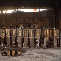 Manhattan's Secret Payphone Graveyard : This Technology Has Been Disconnected or is No Longer In Service Underneath the elevated West Side Highway at 135th and 12th Avenue I found this telephone graveyard. At least a one hundred old, battered pay phones were locked behind a fence near the Park's Department building.