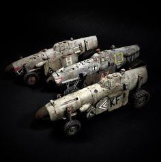 """MEphisto"" ""MEssy"" & ""MEsapotamian"" 109 Messerschmitt Land Speeder SciFi WWIII Steampunk Mad Max Ma.K. SF3D vehicles Scratch Build Kit Bash 1/32 scale"