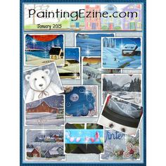 Painting Ezine January 2015 Issue Drawings To Trace, Paint Shop, Painting Patterns, January, Baseball Cards, Artist, Projects, Decor, Log Projects
