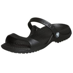 c97124364b864 Crocs Women s Cleo Black Black Croslite Sandals - 8 B(M) US Basic sandal  with two straps and textured footbed
