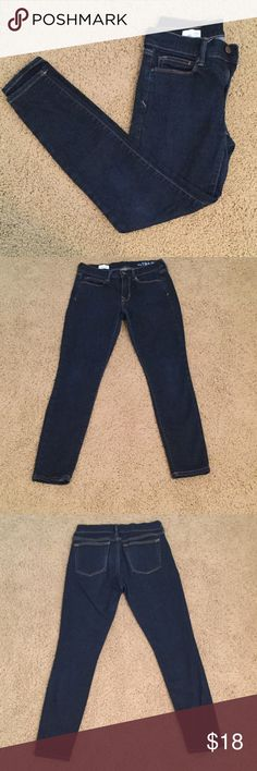 Dark Blue Gap Skinny Jeans These jeans are in great condition and are very comfy! These are slim fit jeans! Willing to trade depending on item! Gap Jeans Skinny