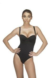 Vedette - Under Bust Body Suit w/ Latex Front (THONG STYLE) -- X-LARGE BLACK- by Vedette (Bodysuit flattens stomach, trims waist and makes you appear thinner!) - Girdle Shaper can be used as a postpartum girdle for postpartum support body shaper for women! - Great Gift Idea - Best Seller! by Vedette Shapewear. $35.00. The Vedette Corset has been designed with the needs of today's woman in mind. It is ideal for shaping your body, correcting posture, and enhancing your fig...