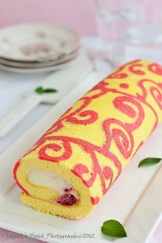 Decorative swiss roll.