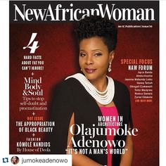 #Repost @jumokeadenowo with @repostapp.  Really humbled and honoured to be featured on the cover of the New African Woman Magazine's April/ May edition . This is the first INTERNATIONAL COVER without a fashion model instead it signals the magazine's shift to focusing on African Women trailblazers and Game Changers .Honoured to be the PIONEER GAME CHANGING Cover of the world's bestselling magazine on the African Woman. Photo by @tybello  hair by @tybello  make up by @rhemahot #awesometreasure…