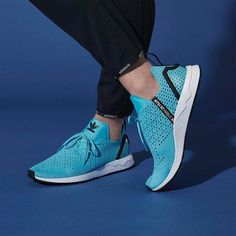 #ZXFLUX in a core blue waffle mesh. Available worldwide now shop the link in our bio. by adidasoriginals