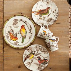 Botanical Bird Dinnerware Collection from Williams Sonoma
