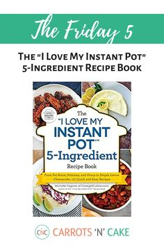 The publisher of my book sent me a copy this, and it's right up my alley. The easier the recipe, the better. Most recipes have around 5 ingredients, and can just be tossed into the Instant Pot for stress-free meals. If you like my cookbook, you'll probably enjoy this one! If you want dinner on the table quickly, this is for you.