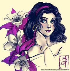 "Esmeralda by ScarlettIwater.deviantart.com on @DeviantArt - From ""The Hunchback of Notre Dame"""