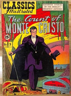 CLASSICS ILLUSTRATED #3 Count of Monte Cristo by Alexandre Dumas (HRN 113) VG+