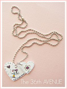 The 36th AVENUE   Shrink Film Friendship Necklaces.